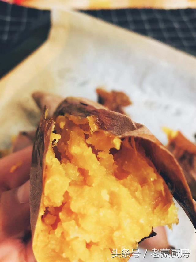 在家自己烤红薯,吱吱流油,做法简单,香甜可口,满屋飘香