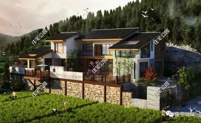 该户型为三层简欧式经典乡村别墅