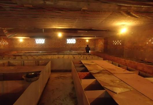 竹鼠饲养池:单层砖混结构